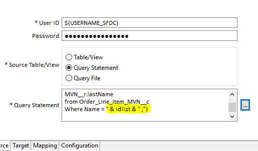 SOQL query inside DJX statement is not working